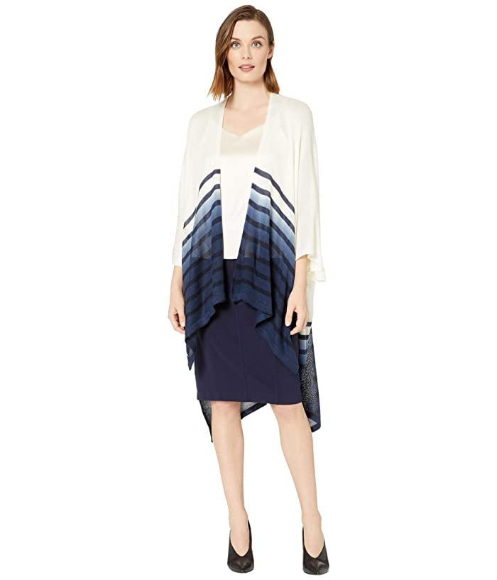 LAUREN Ralph Lauren  Dip-Dye Striped Kimono (Cream/Navy) Womens Clothing