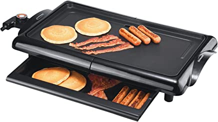 Brentwood TS-840 Non-Stick Electric Griddle with Drip Pan, 10 x 20