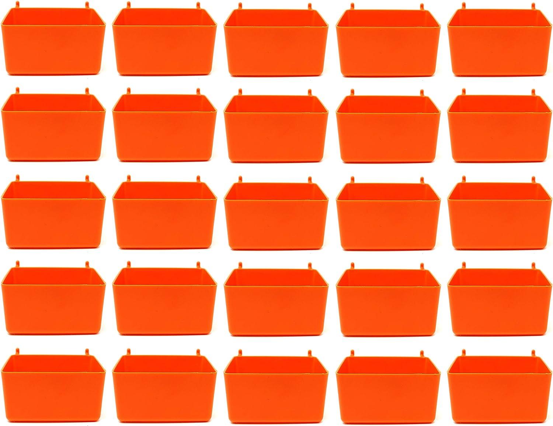 Small Plastic Orange Pegboard 50 Storage Bins security Cheap Part
