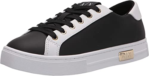 Armani exchange scarpe da ginnastica donna calf leather classic, sneakers XDX027XCC14D611