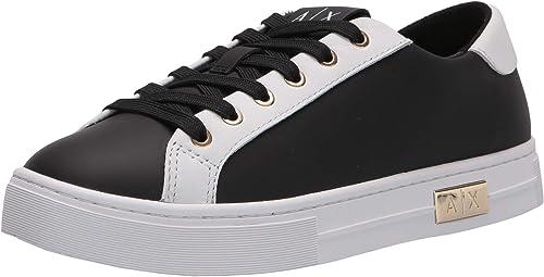 Armani exchange scarpe da ginnastica donna calf leather classic, sneakers XDX027XCC14D611