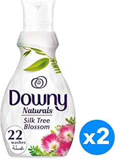 Downy Naturals Concentrate Fabric Softener Silk Tree Blossom Scent, 880ML, Piece of 2