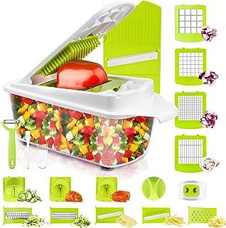خردکن سبزیجات و برش دهنده مخصوص آشپزخانه 23 عدد برش و خردکن سبزیجات وسایل آشپزی وسایل آشپزی وسایل ابزار سالاد ساز دستگاه دسکتاپ دستگاه خردکن سیب زمینی با ظرف