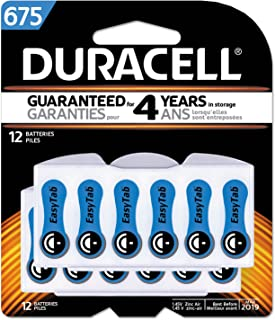 Button Cell Hearing Aid Battery #675, 12/pk, New