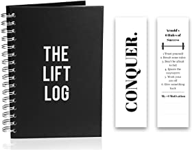 The Lift Log Workout Journal with Bookmark – 6 Month Daily Fitness Journal, Track Lifts, Cardio, Goals, Body Weight and Mo...