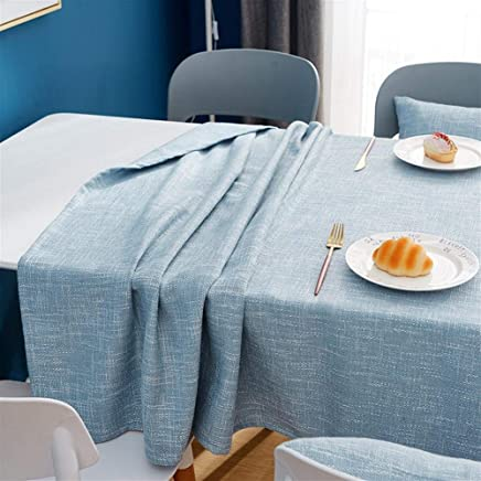 Solid Color Decorative Coarse Knit Linen Tablecloth Waterproof And Oilproof Thick Rectangular Table Cloth Coffee Table Cloth (Color : B, Size : 135 * 135) meyeye (Color : E, Size : 135 * 135)