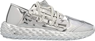 Luxury Fashion | Giuseppe Zanotti Design Men RM00032001 Silver Patent Leather Sneakers | Spring-summer 20
