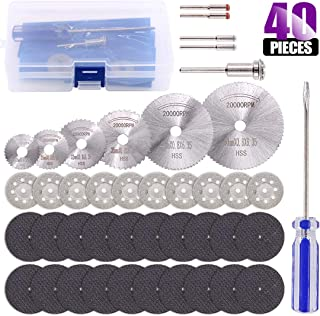 Swpeet 40Pcs Rotary Diamond Cutting Wheel Kit, 10Pcs 1/8