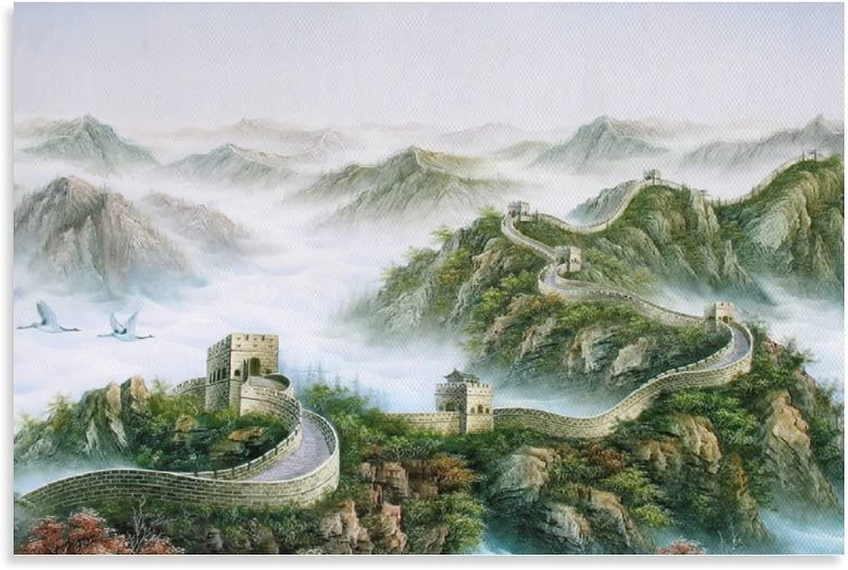 Chinese Ink Landscape Poster Award of The Po Canva Art We OFFer at cheap prices Wall Great