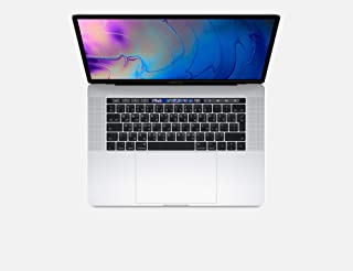 Apple MacBook Pro 2019 Model (15-Inch, Intel Core i7, 2.6Ghz, 16GB, 256GB, Touch Bar, 4 Thunderbolt3 Ports, MV922), Eng-Ara KB, Silver
