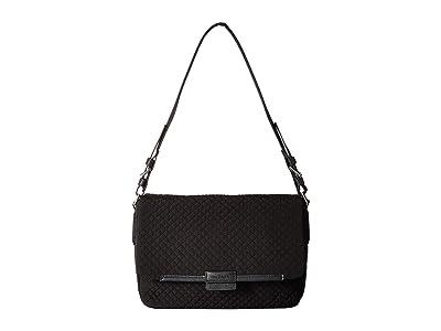 Vera Bradley Iconic Shoulder Bag (Classic Black) Satchel Handbags
