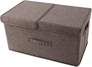 Boîtes de rangement avec couvercles et poignées, double couvercle, boîte de rangement for organisateur de stockage en cube...