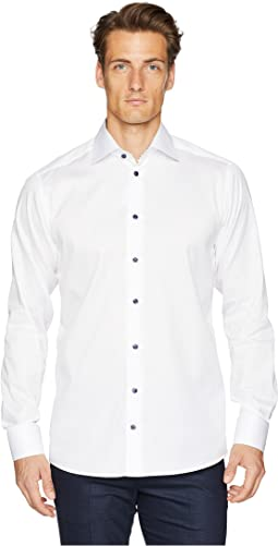Slim Fit Twill with Printed Collar/Cuff Shirt