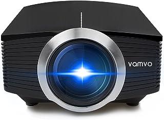 Vamvoプロジェクター 高画質1800ルーメン 1080P 130インチ ホームシアター パソコン/スマホ/タブレット/ゲーム機など接続可能 USB/SDカード/HDMI/AV/VGAサポート YG500-N