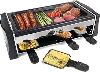 HengBo Machine Raclette pour 8 Personnes, Appareile a Raclette avec Plaque de Cuisson Antiadhésive, Température réglable, ...
