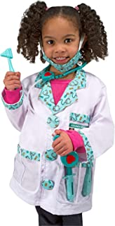 Melissa & Doug Doctor Role-Play Costume Set (Pretend Play, Materials, Machine Washable, 17.5″ H × 24″ W × 0.75″ L, Great Gift for Girls and Boys - Best for 3, 4, 5, and 6 Year Olds)