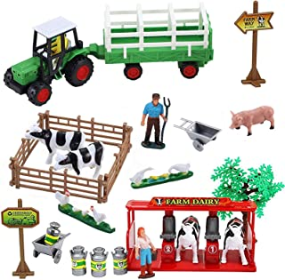 Liberty Imports Farming Fun Playset with Tractor