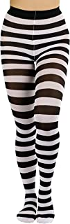 ToBeInStyle Women's Wide Horizontal Striped Opaque Tights