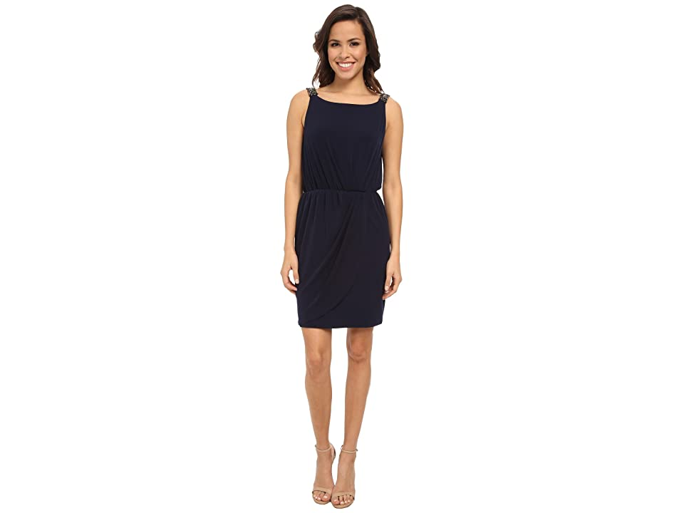 a72a320c76146 Jessica Simpson Ity Beaded Strap and Low Back (Blue) Women's Dress