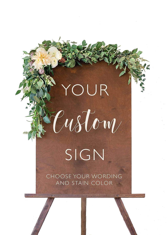 Wood Wedding Max 71% OFF Complete Free Shipping Sign Custom Da