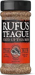 Rufus Teague STEAK RUB – 6.2oz Shaker – Bold Steak Seasoning. Beyond Steakhouse Flavor. – Premium Herbs & Spices – Unique, All Natural Ingredients & Gluten-Free