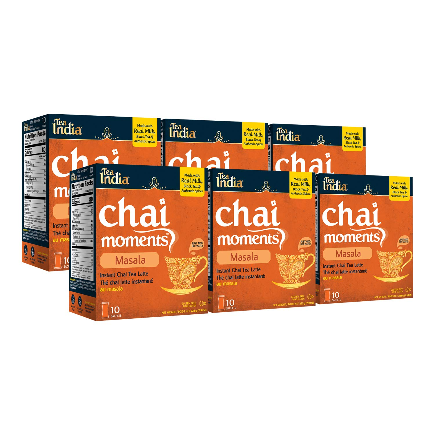 Tea India Chai Moments Masala 6 Max 57% Mail order OFF Pack of Count 10