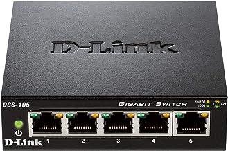 D-Link DGS-105 - Switch de red (5 puertos Gigabit RJ-45, 10/