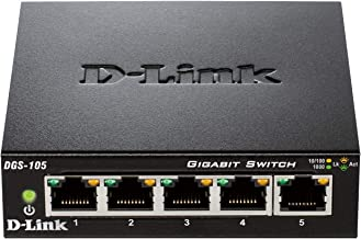 D-Link DGS-105 - Switch de red (5 puertos Gigabit RJ-45, 10/