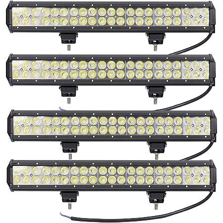Leetop 4x 126w Led Arbeitsscheinwerfer Weiß 12v 24v Flutlicht Reflektor Work Light Bar Scheinwerfer Arbeitslicht Offroad Arbeitslampe Für Traktor Auto