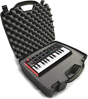 STUDIOCASE Recording Equipment Travel Hard Case w/ Customizable Foam fits Alesis SR18 and SR16 Drum Machines ,25 Key Mini Akai Professional MPK Midi Controller and Accessories