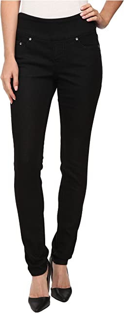 Nora Pull-On Skinny Knit Denim in Black Rinse