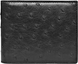 CHERRY CHICK Men's Luxury Genuine Leather Wallet Crocodile Skin and Ostrich Skin (Birthday Ideal & Graduation Gift)