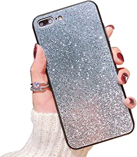 Heromck i7 i8 Plus Phone Case Bling Compatible with iPhone8PlusCasesforWomen i 7Plus Cover 7 8 P Coque i7Plus i8Plus Sparkly Fundas 7s 8s Plus 5.5 Inch (Blue)