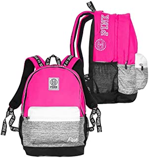 Pink Campus Backpack Gypsy Rose Marl Grey Book Bag