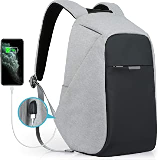 Oscaurt Laptop Backpack, Anti-theft Travel Backpack, Business School Bookbag with USB Charging Port for Men & Women Fit 15.6 Inches Laptop Grey