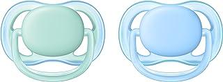 Philips Avent Fopspeen Ultra Air 0 tot 6 maanden - 2 Stuks - Voor babys met een gevoelige huid - Orthodontisch - 4 Grote l...