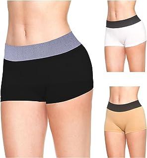 a74679a81 LastFor1 Women Boxer Sport Underwear Comfort Utral Soft Warm Mid Rise Nylon  Boyshorts Panties Briefs Plus