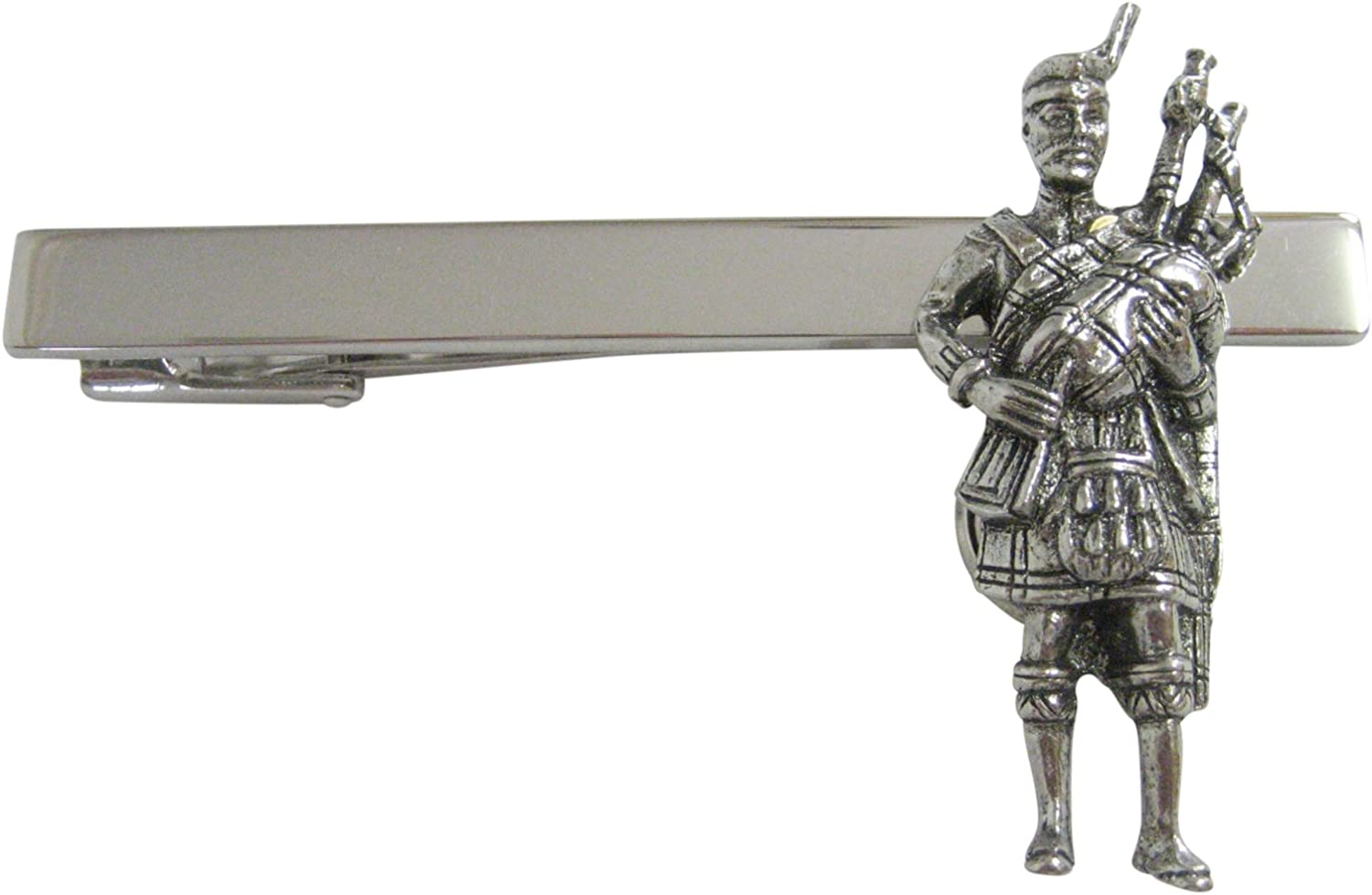 Silver Toned Scottish San Diego Mall Piper Tie Clip Inventory cleanup selling sale Square