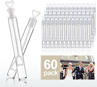 WOVELOT Wedding Wand Heart Tube Bubbles Wedding Favours Table Decoration Party Accessories 60pcs