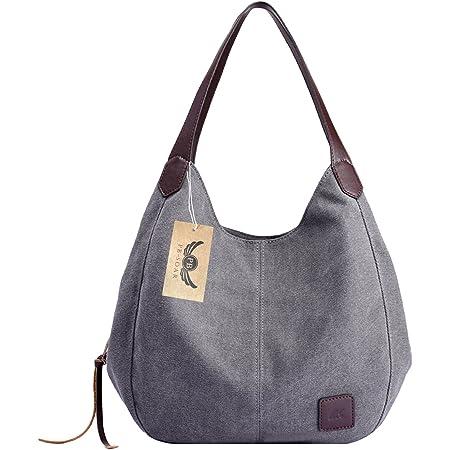 PB-SOAR Damen Mädchen Modern Canvas Shopper Schultertasche Handtasche Henkeltasche Hobo Bag Beuteltasche