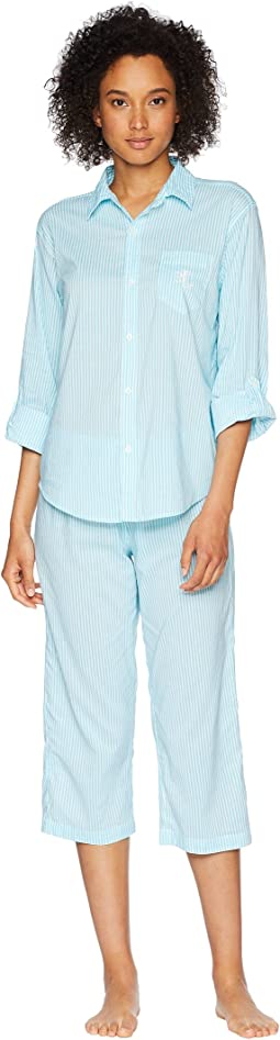 His Shirt Capris Pajama Set