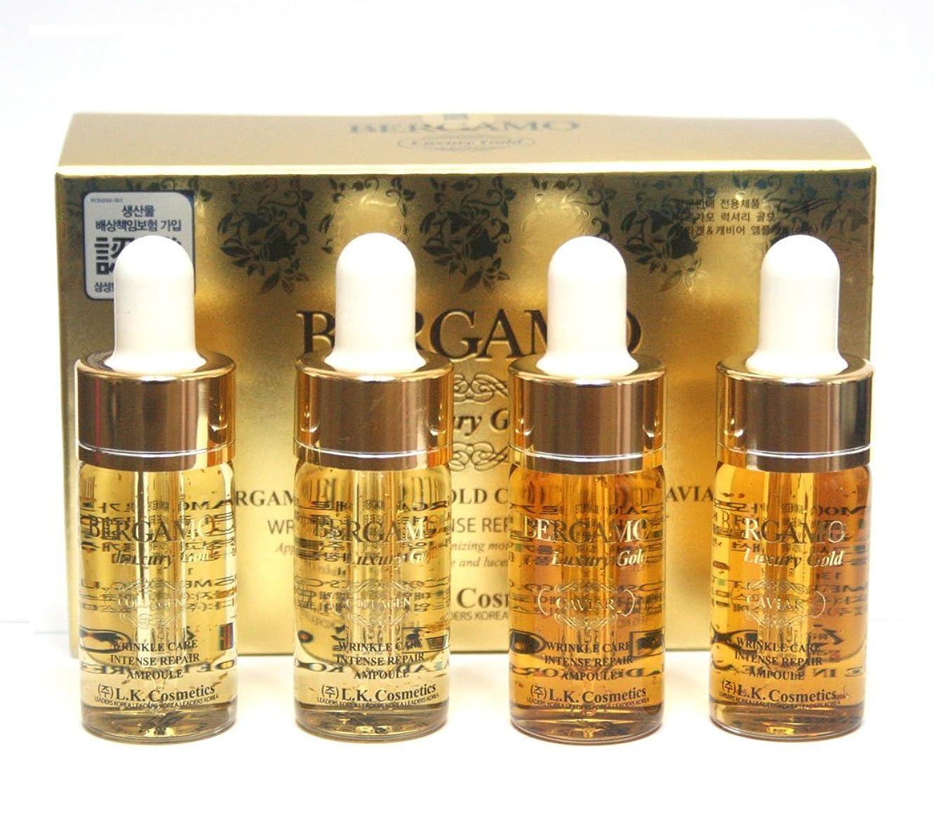 鋼飲み込む分析[ベルガモ] Bergamo/ラグジュアリーゴールドコラーゲン&キャビアリンクルケアアンプルセット13ml * 4ea/Luxury Gold Collagen & Caviar Wrinkle Care Repair Ampoule Set 13ml * 4ea/韓国化粧品/Korean Cosmetics [並行輸入品]