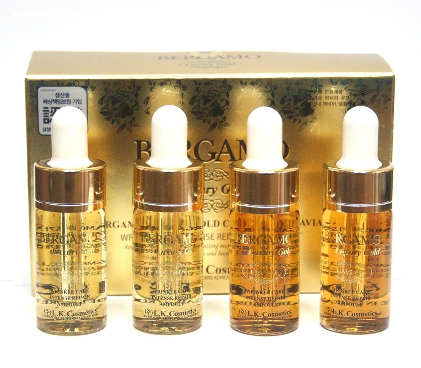 しおれたサンダース小麦粉[ベルガモ] Bergamo/ラグジュアリーゴールドコラーゲン&キャビアリンクルケアアンプルセット13ml * 4ea/Luxury Gold Collagen & Caviar Wrinkle Care Repair Ampoule Set 13ml * 4ea/韓国化粧品/Korean Cosmetics [並行輸入品]