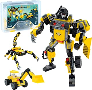 JITTERYGIT Robot STEM Toy | 3 in 1 Fun Creative Set | Construction Building Toys for Boys and Girls Ages 6-14 Years Old | ...