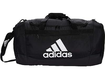 adidas Defender 4 Large Duffel Bag (Black/White) Handbags