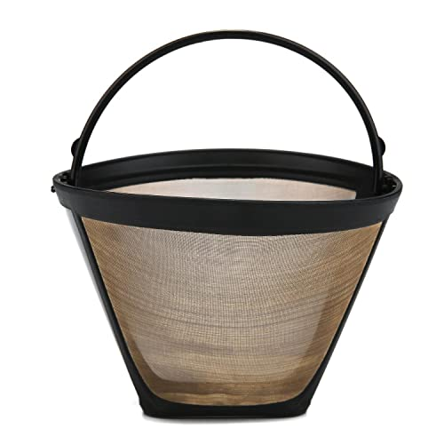KOBWA #4 Cone Permanent Coffee Filter,Washable & Reusable Coffee Filter