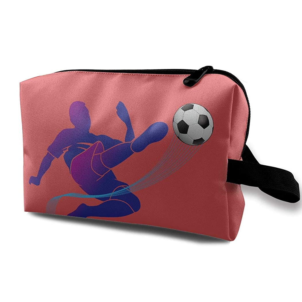 Storage Bag Travel Pouch Cosmetic Stationery Holder Soccer Purse Organizer Power Bank Data Wire