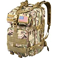 CVLIFE Outdoor 40L Military Rucksack Tactical Backpack (New CP)
