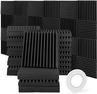 HMGDFUE Paneles insonorizantes, 24 unidades (30 x 30 x 5 cm), panel insonorizante, color negro, panel insonorizante para p...