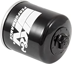 K&N Motorcycle Oil Filter: High Performance Black Oil Filter with 17mm nut designed to be used with synthetic or conventional oils fits Honda, Kawasaki, Triumph, Yamaha Motorcycles KN-204-1
